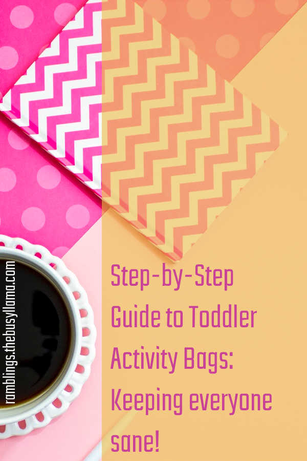 Ready to hit the road or hop on the plane with a toddler? Don't want to be tethered to an iPad or tablet? I've got you covered, toddler activity bags!