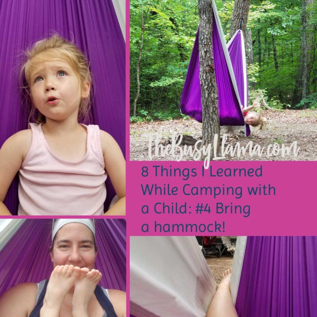8 Things I learned while camping with a childe #4 Bring a hammock