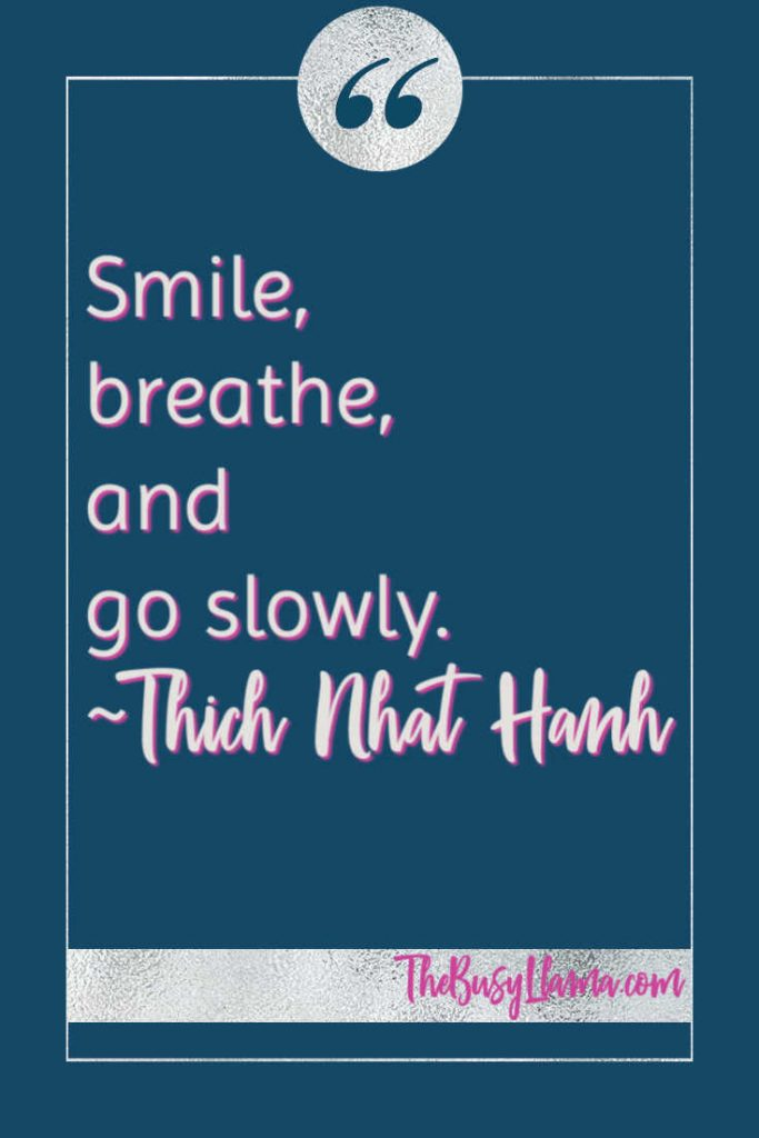 Smile, breathe, and go slowly Thich Nhat Hanh coping with anxiety