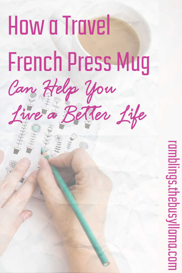 Ditch that crummy convenience store and over-priced Starbucks brew - - two great options for you to make your Java Momma to-go in a travel french press mug!