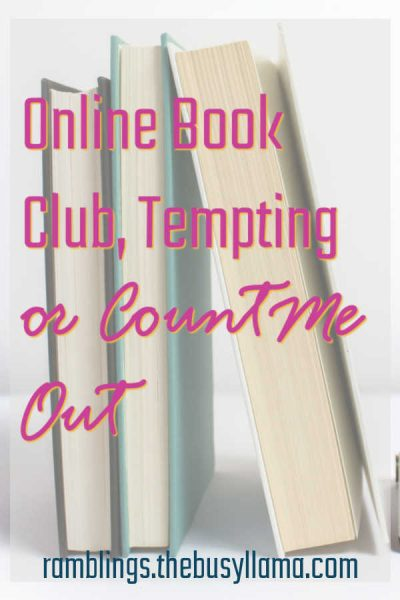 Some of my favorite memories and best conversations have happened at book clubs I have been a part of, I miss it! So, how about an online book club? Interested?